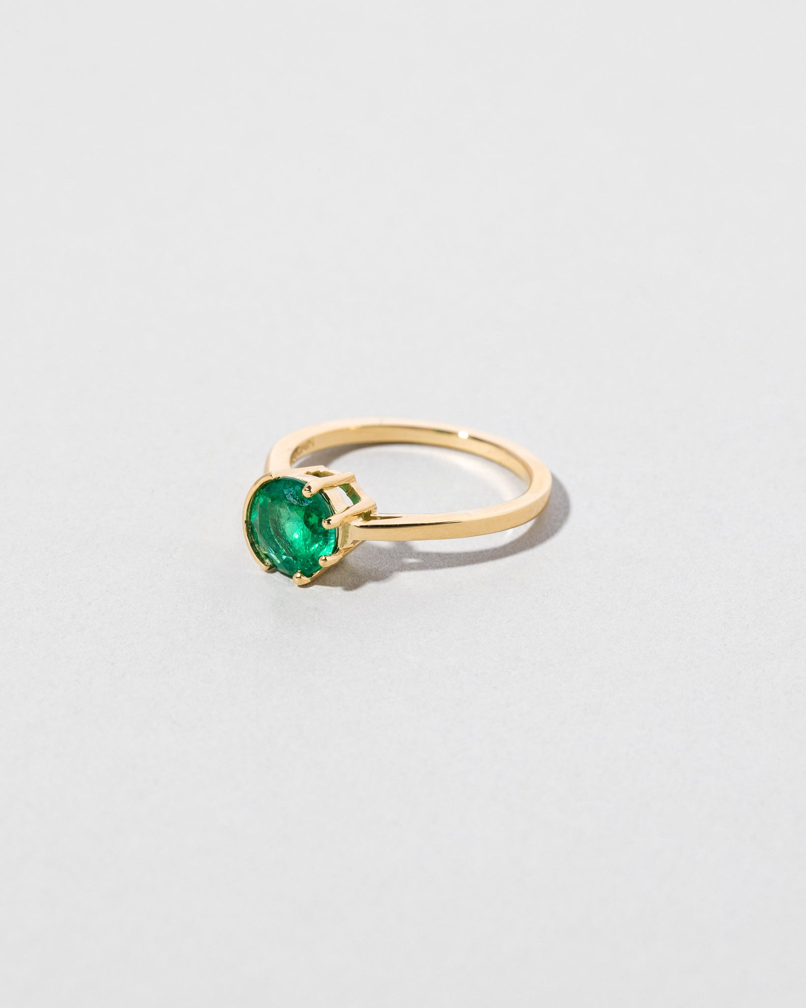 Emerald Sun & Moon Ring right side view