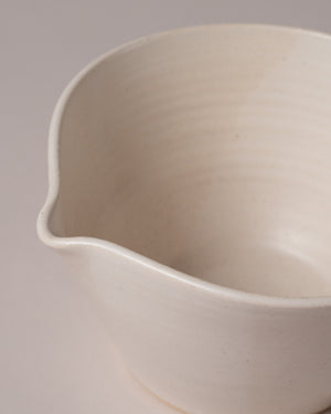 Kam Bowl #1 in Off-White Closeup