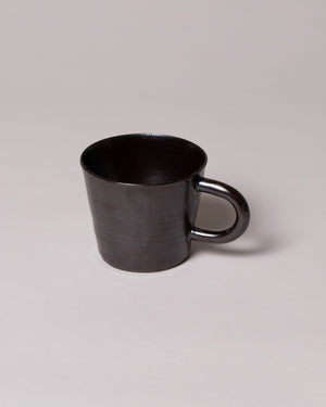 Front view of Kam Mug in gunmetal