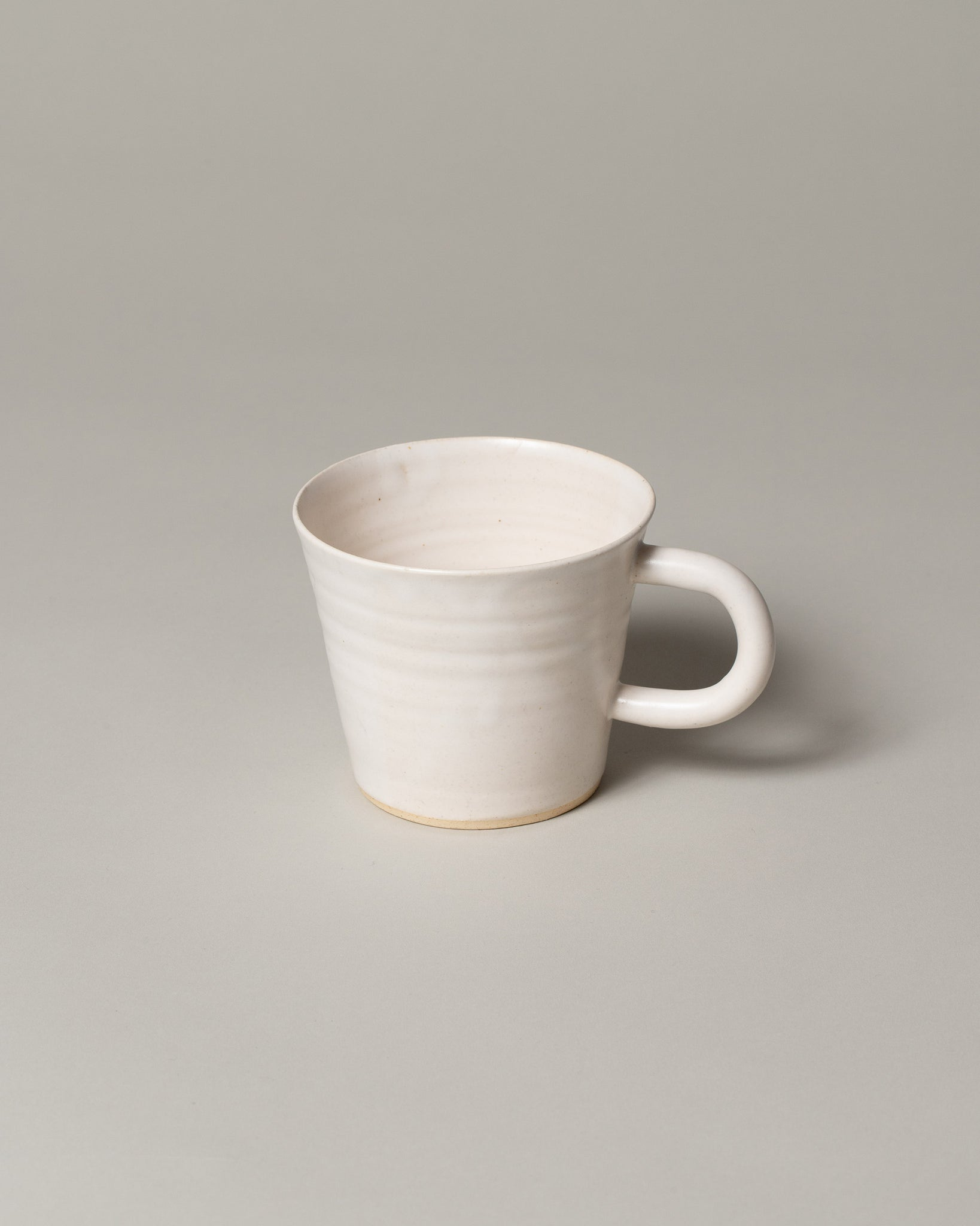 Front view of Kam Mug in off-white