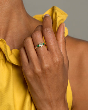 Five Stone Ring Front on Model