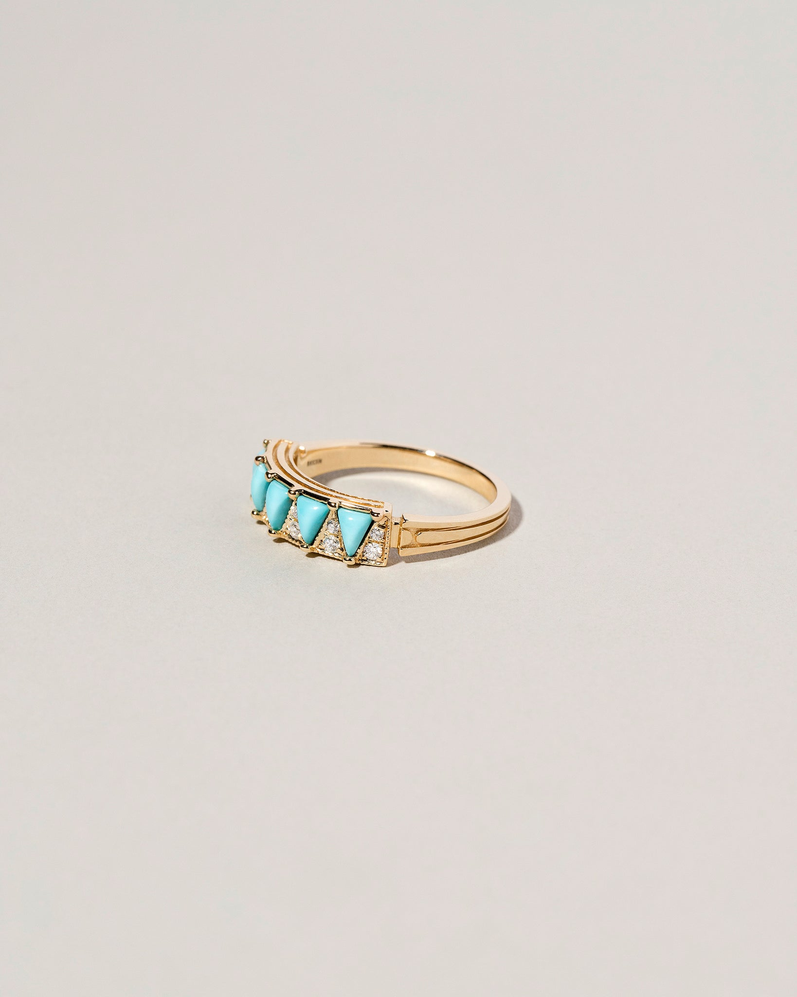 Five Triangle Turquoise Ring Right Side