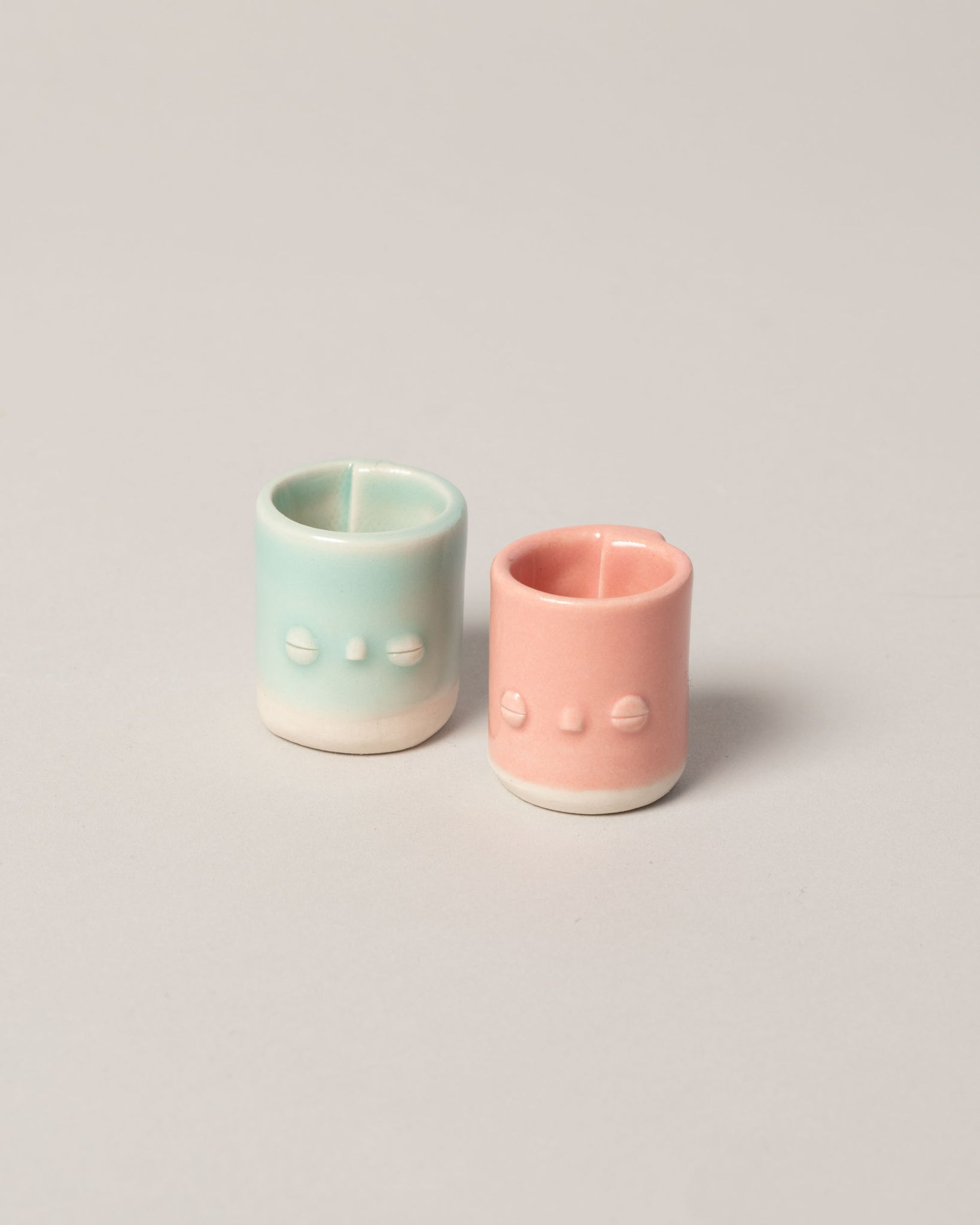 Dipped Babe Vessel in Teal and Pink