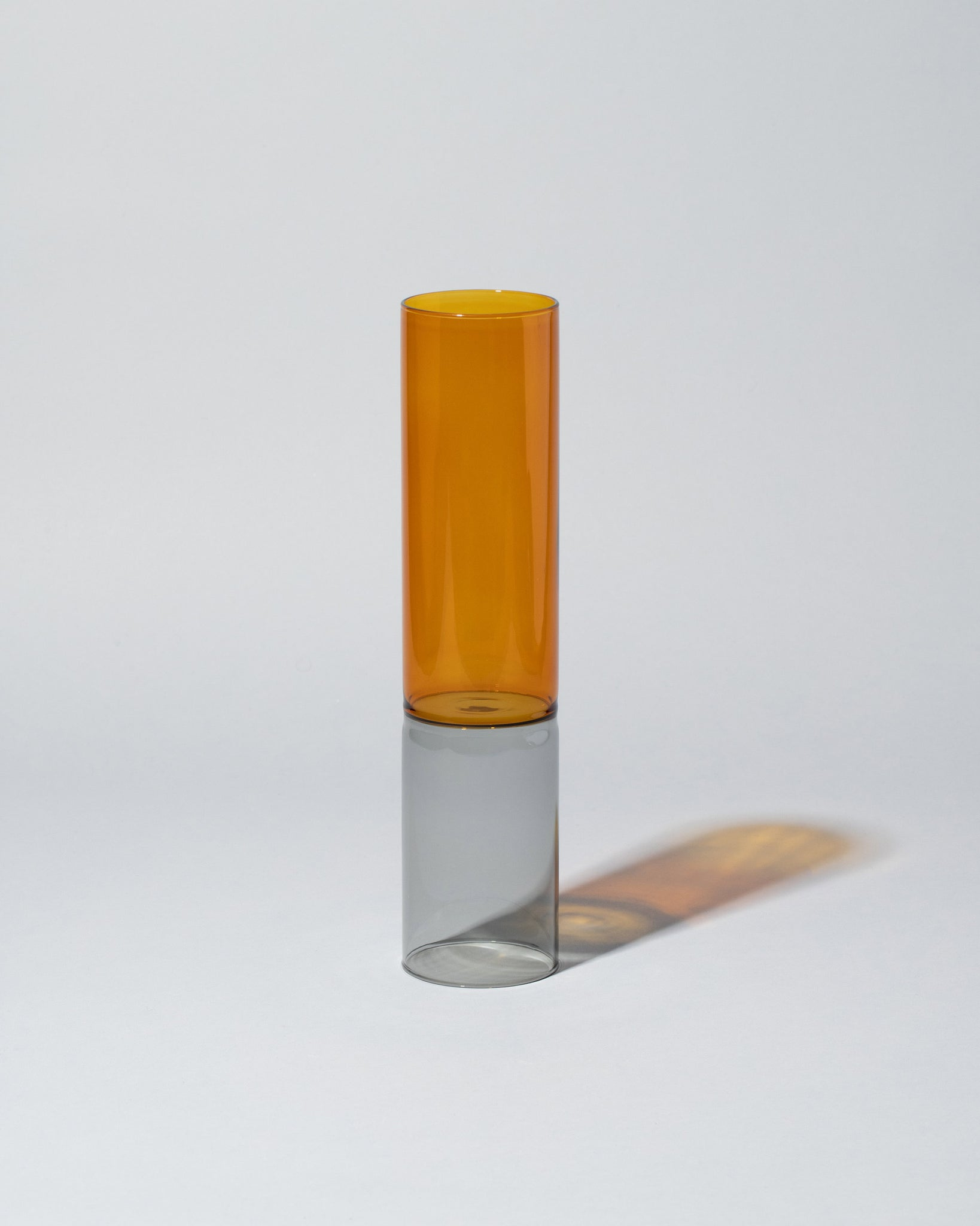 Ichendorf Milano Bamboo Vase Medium in Amber Smoke