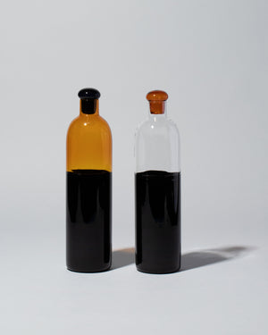 Ichendorf Milano Light Colore Bottle in Amber Black and Black Clear