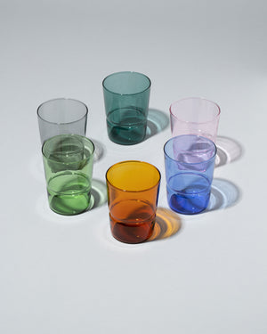 Group of  Ichendorf Milano TAP Glass on light color background