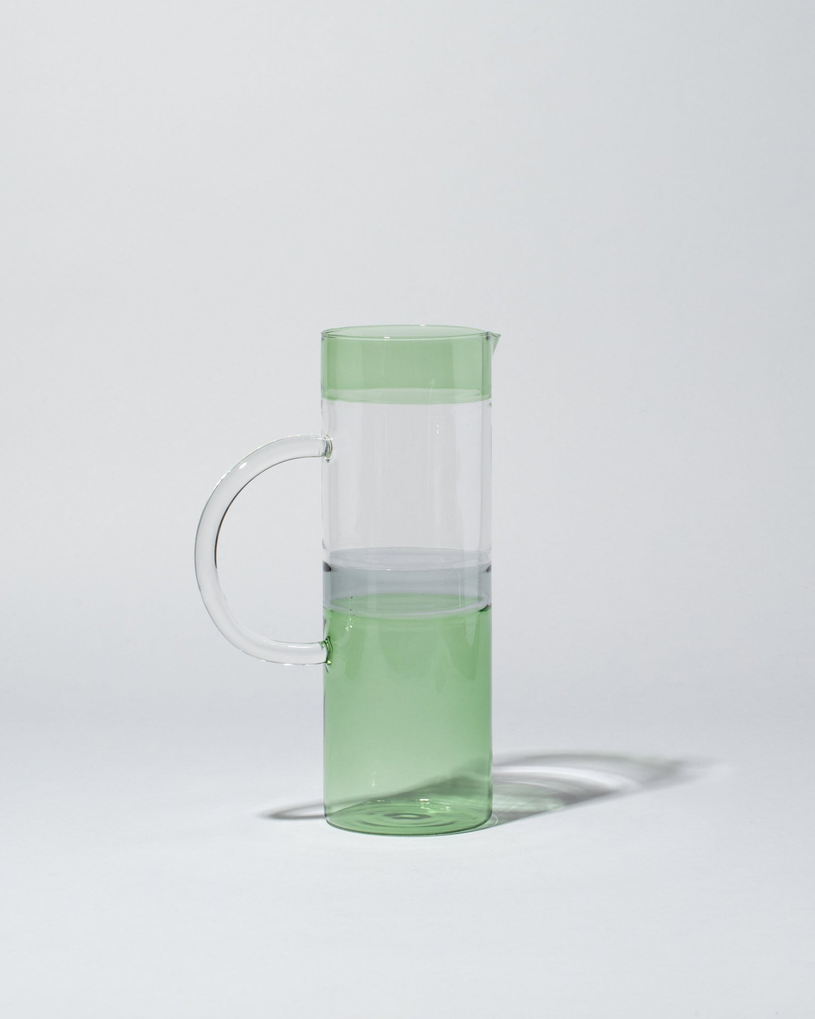 Ichendorf Milano Tequila Sunrise Jug in Green Smoke Clear