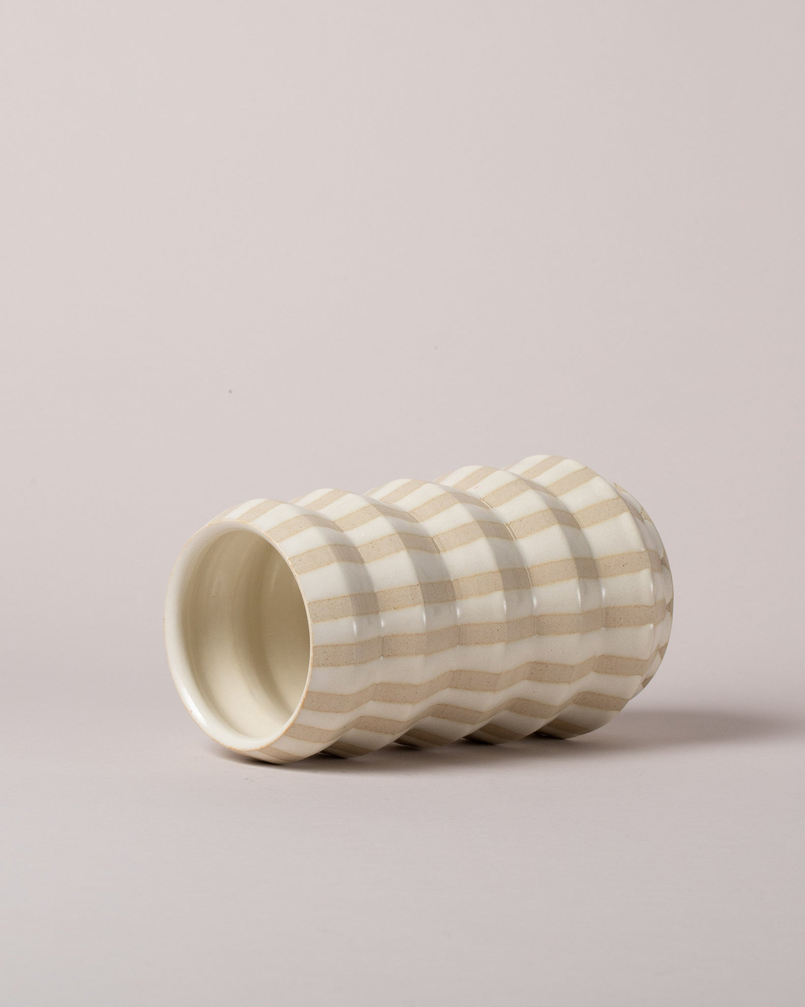 Accordion Vase Striped Laid Flat