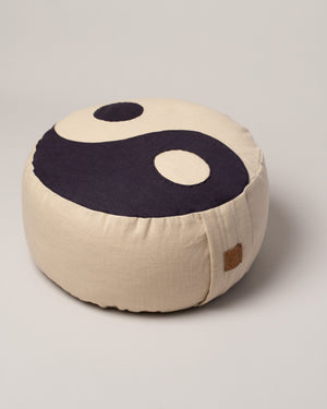 Kaschuba Hommage Yin Yang Pillow in Classic style on flat surface