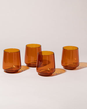 Sepia Glass Tumbler Large Set of 4 front view