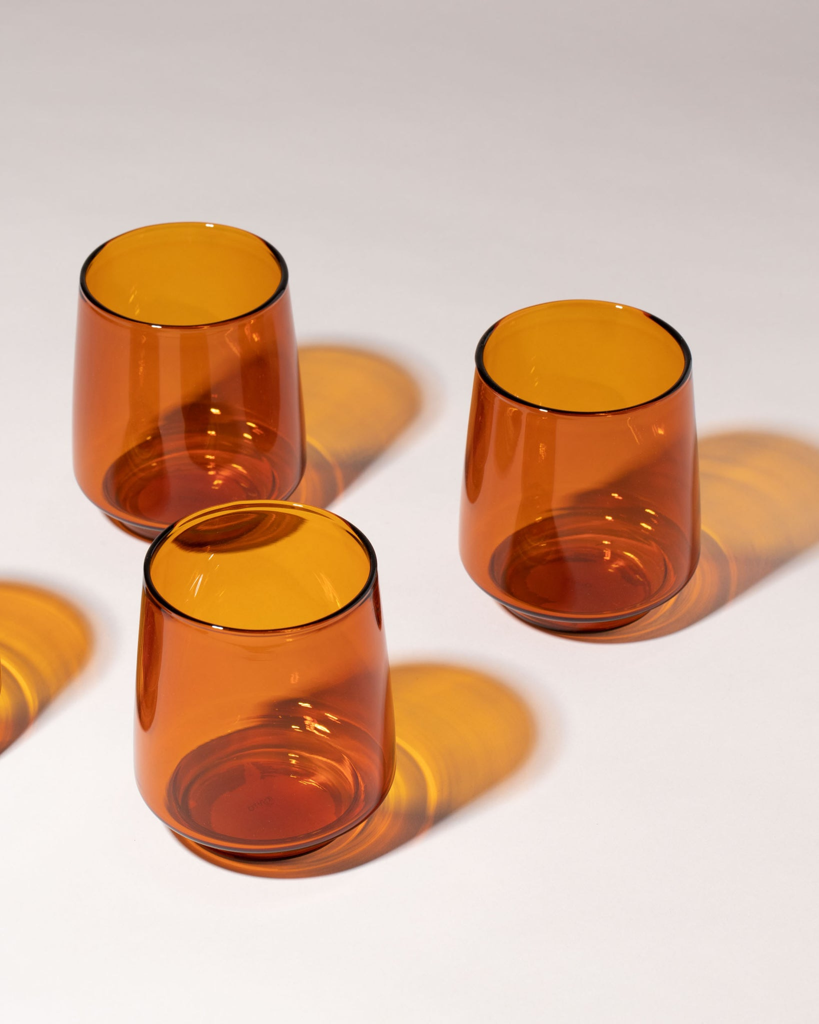 Sepia Glass Tumbler Large Set of 4 top view