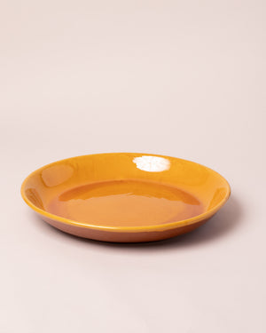 La Ceramica Circular Serving Dish Caramel Yellow