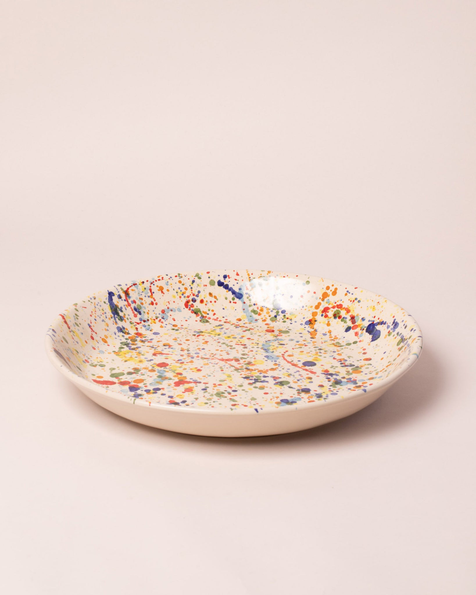 La Ceramica Circular Serving Dish Colored Drops
