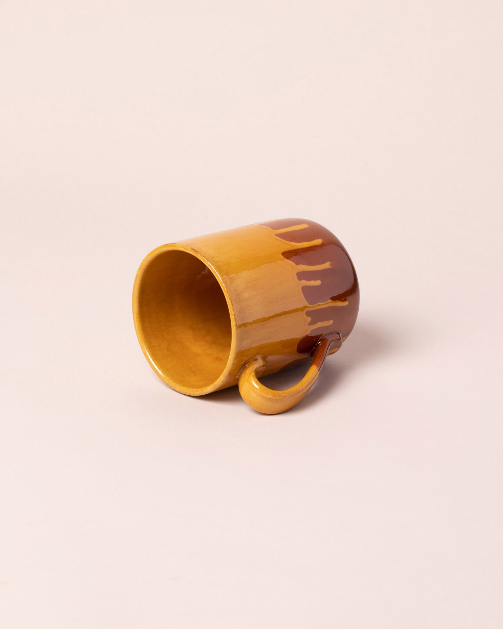 Inside of La Ceramica Coffee Mug Caramel Yellow