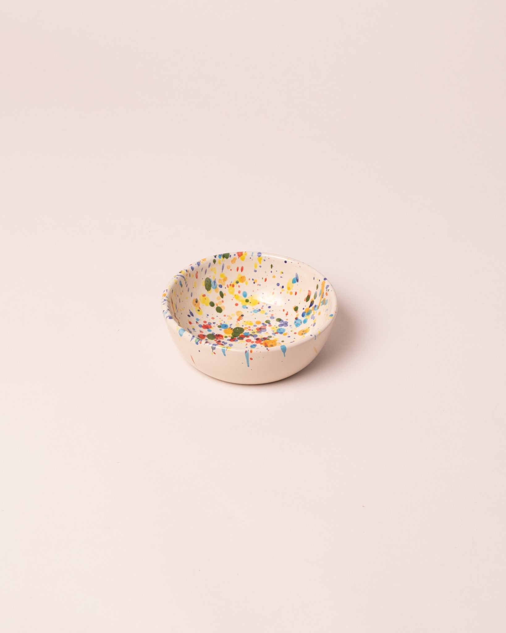 La Ceramica Dessert Bowl colored drops