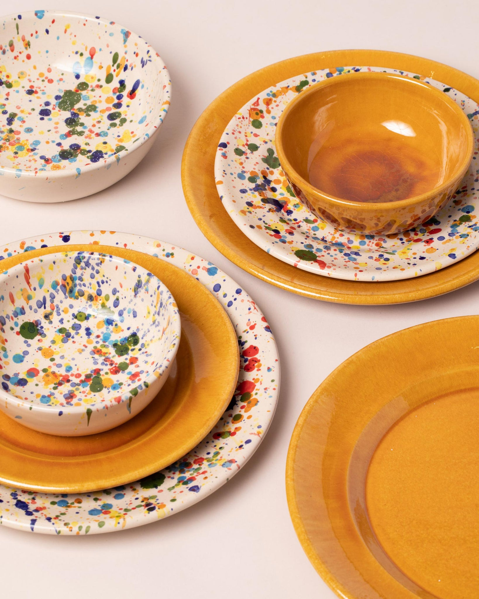 Group of La Ceramica dishes and bowls
