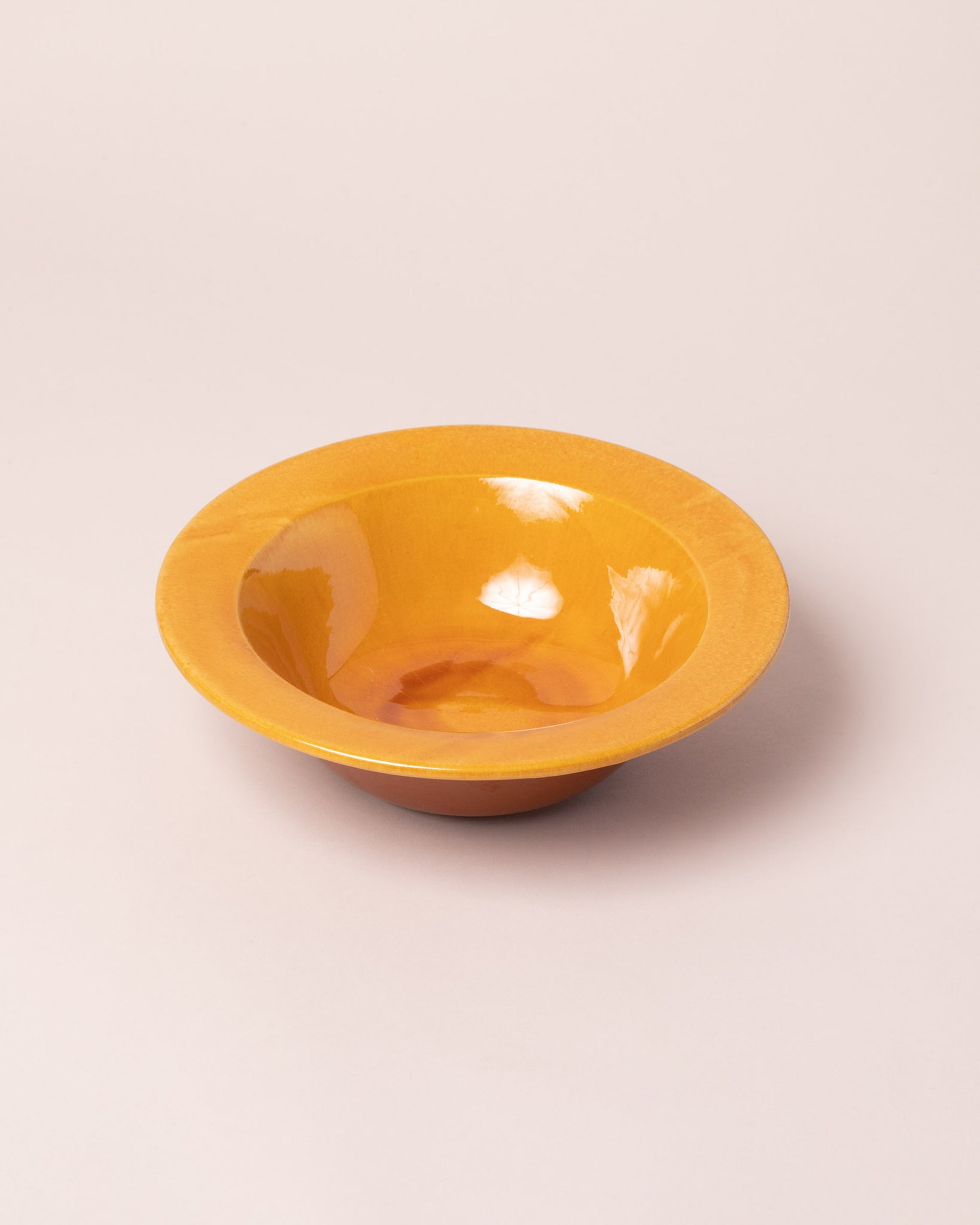 La Ceramica First Course Bowl Caramel Yellow