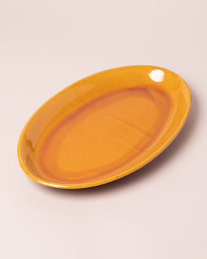 La Ceramica Oval Serving Dish Caramel Yellow