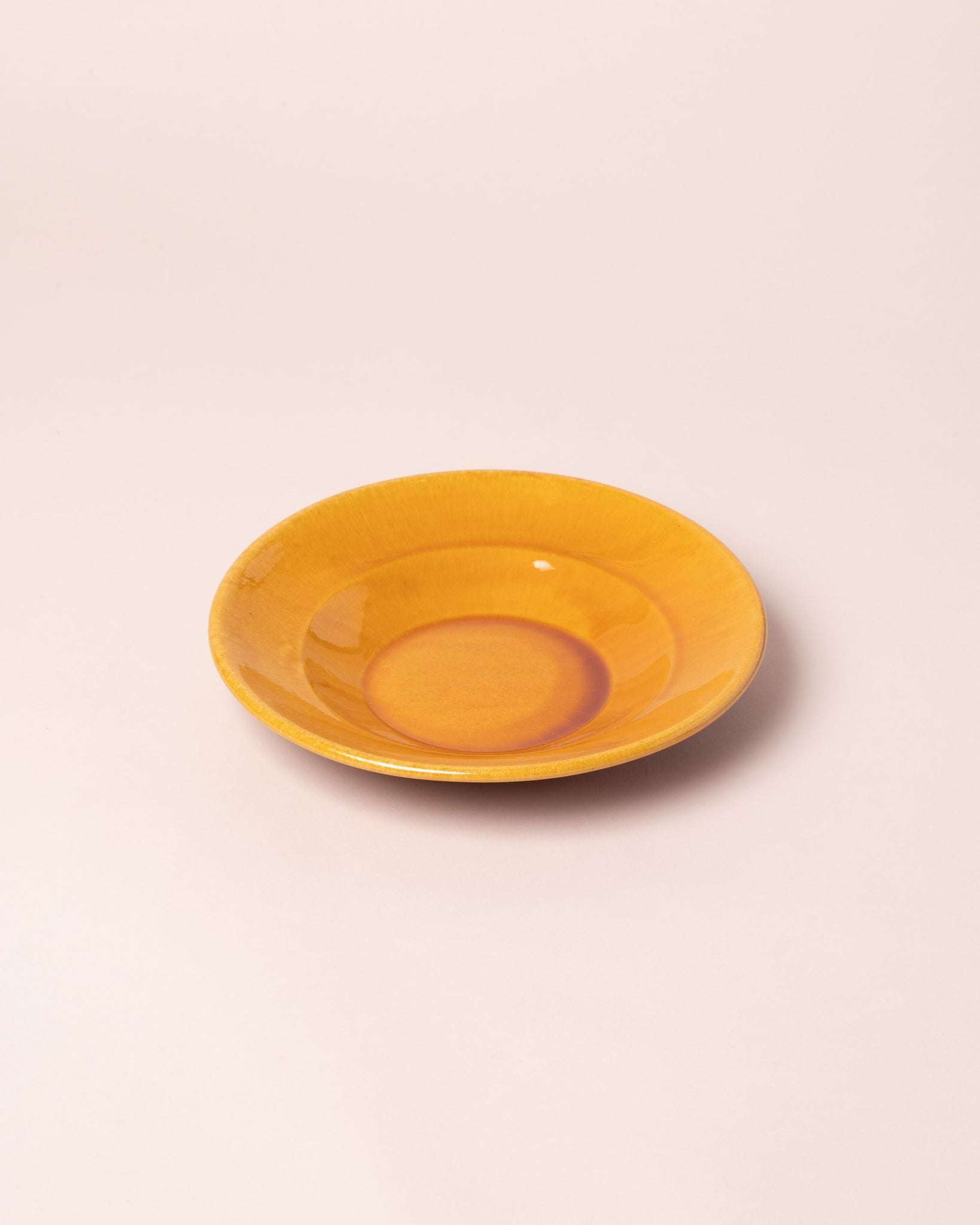 La Ceramica Shallow Bowl caramel yellow
