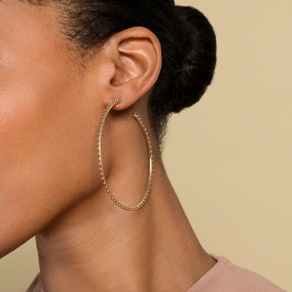 product_details::Sunbow Hoops on model.