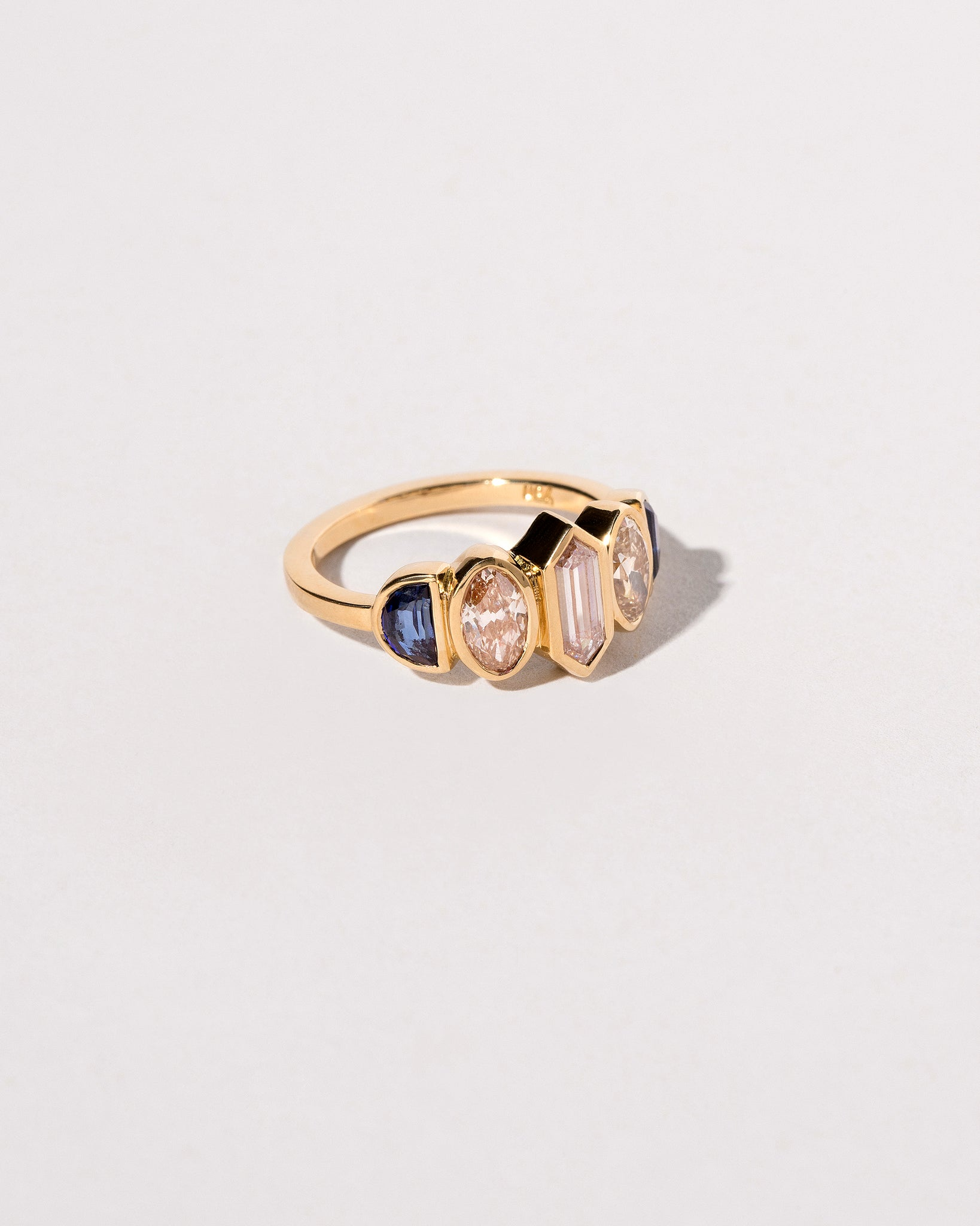 Side view of the Larkspur Ring