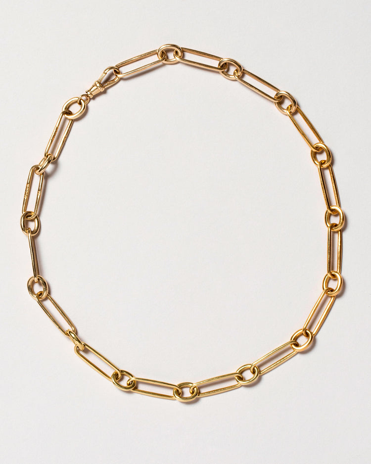 Link Necklace Laid Flat