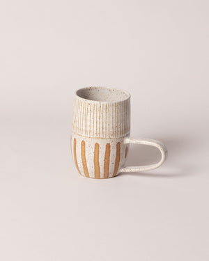 Little Bear Pots Striped Mug in white