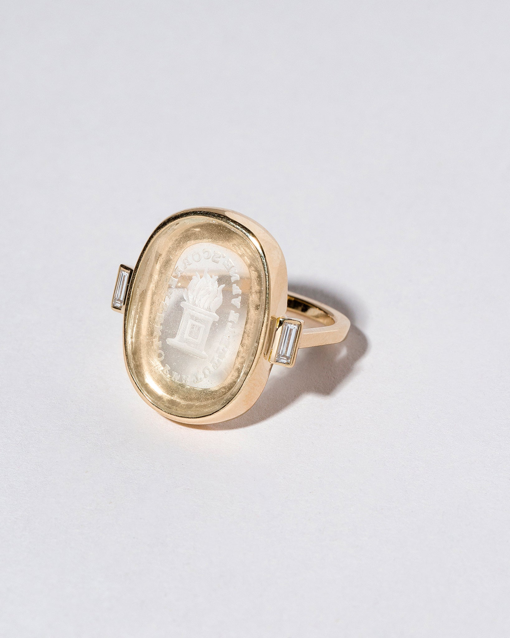 Passion Intaglio Seal Ring on light color background