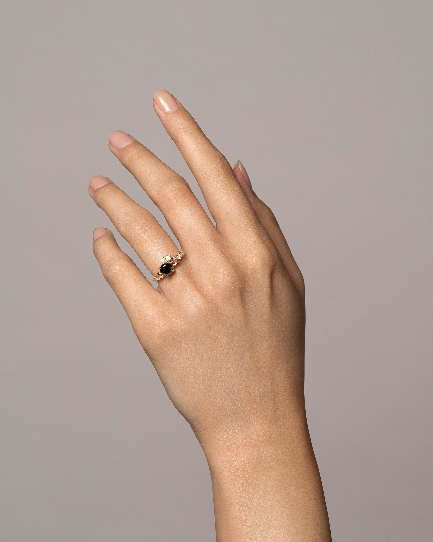 Black Diamond Luna Ring on model