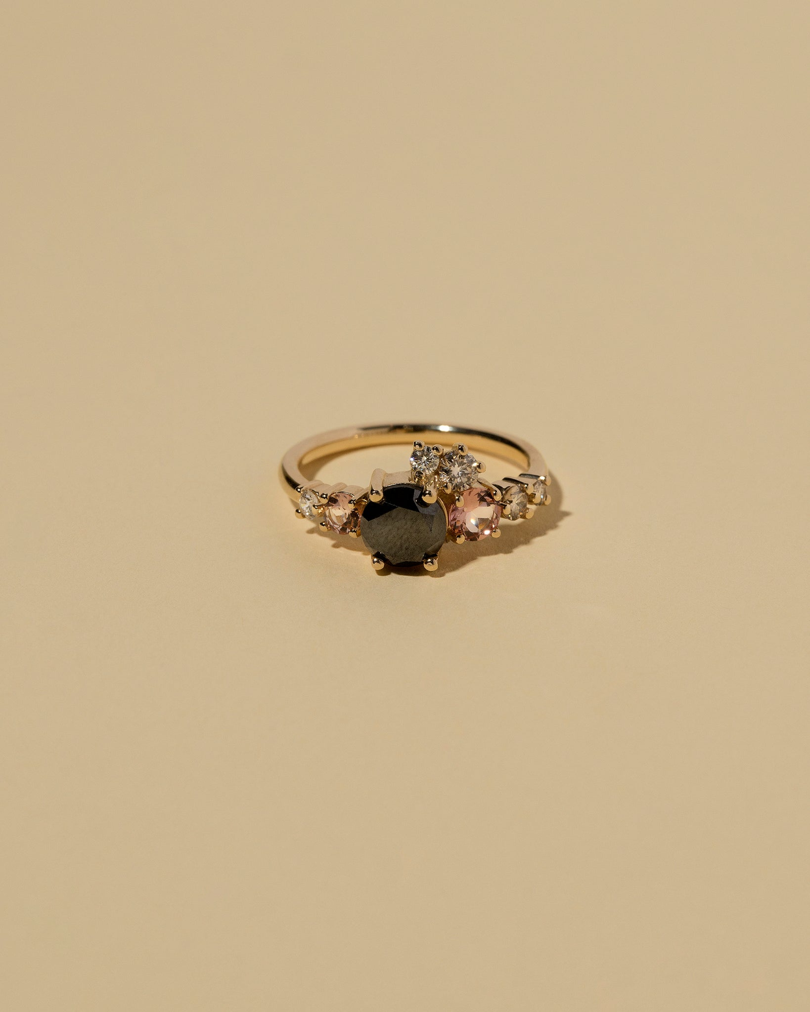 Front view of Black Diamond Luna Ring
