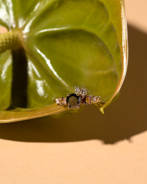 Black Diamond Luna Ring front view