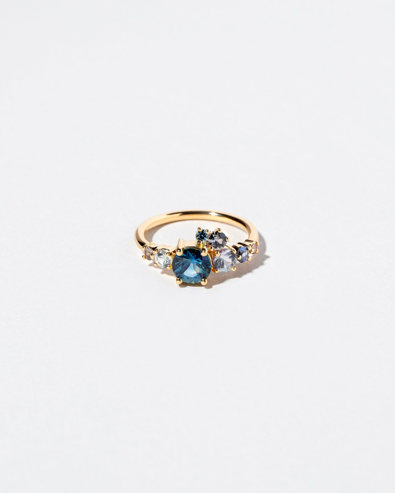 Luna Ring in Blue Sapphire front view