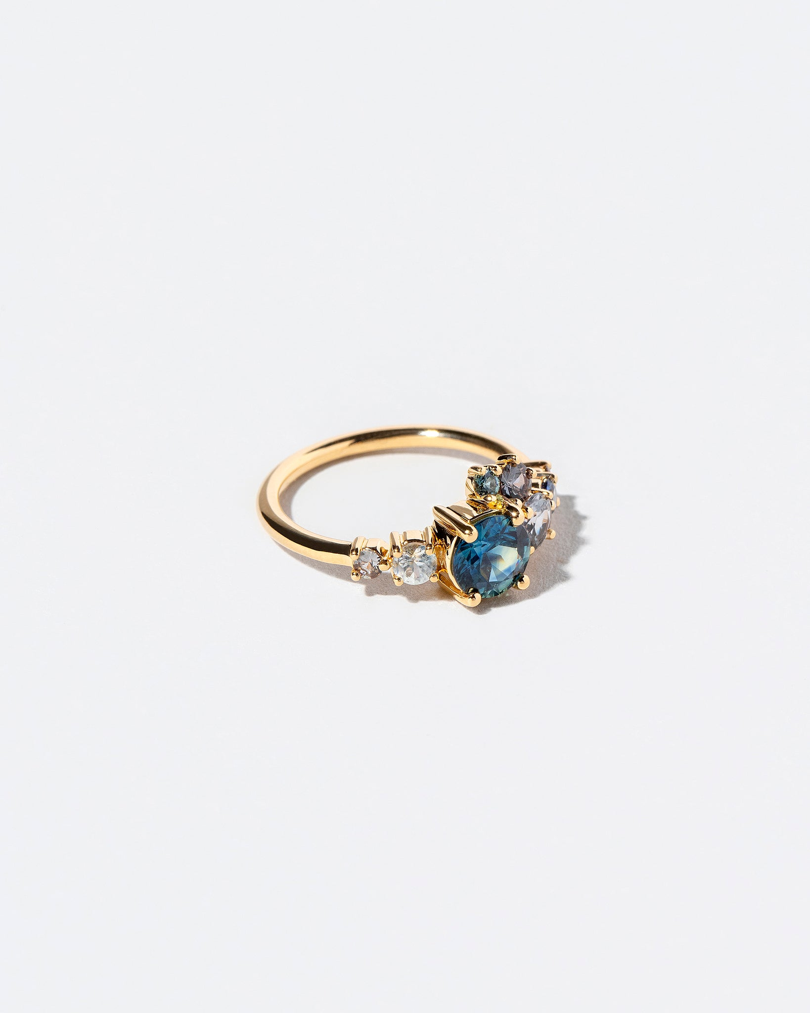 Luna Ring in Blue Sapphire left view