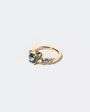 Luna Ring in Blue Sapphire right view