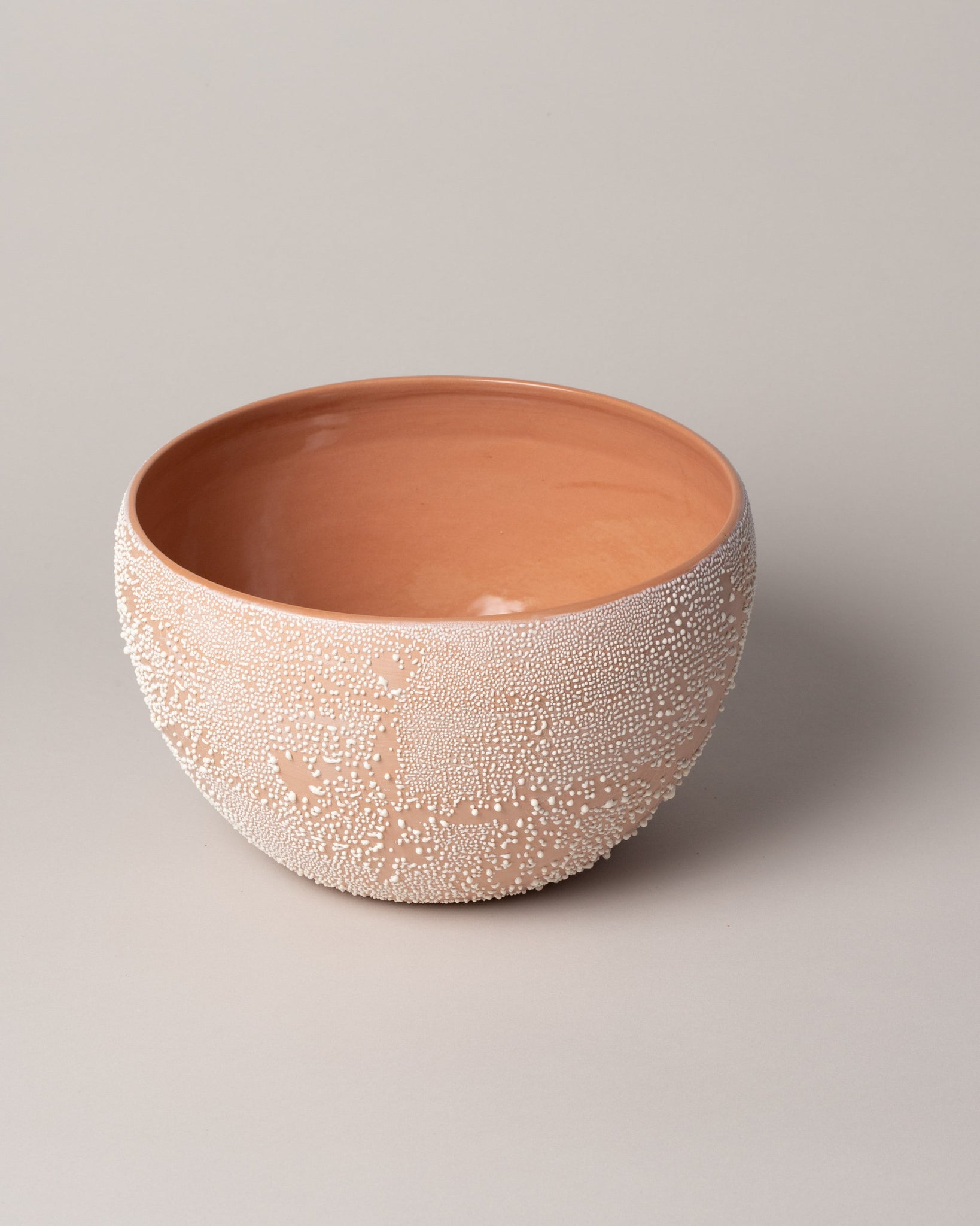 Dew Serving Bowl in Terracotta Closeup