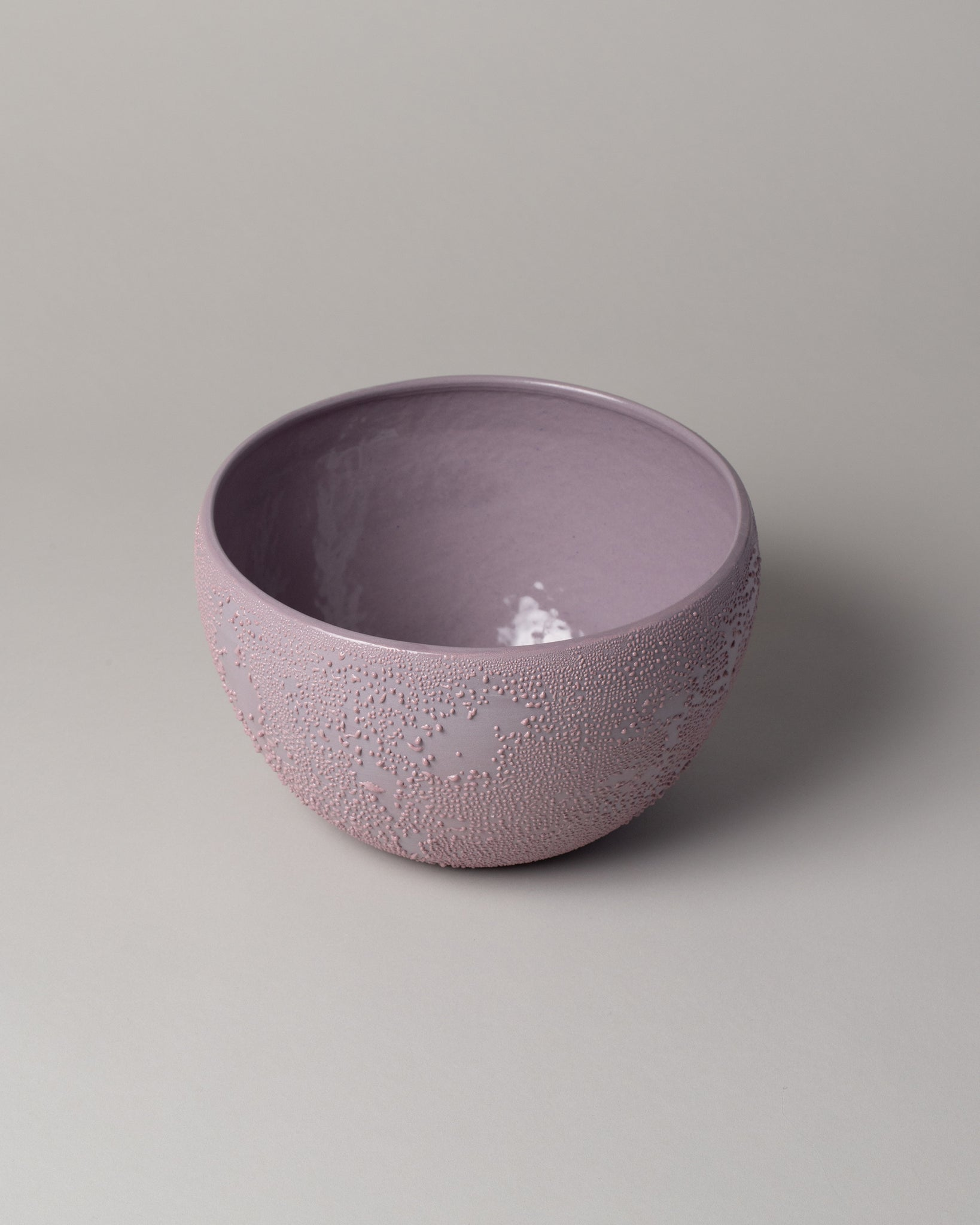 Dew Serving Bowl in Lavender Top View