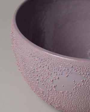 Dew Serving Bowl  in Lavender Closeup