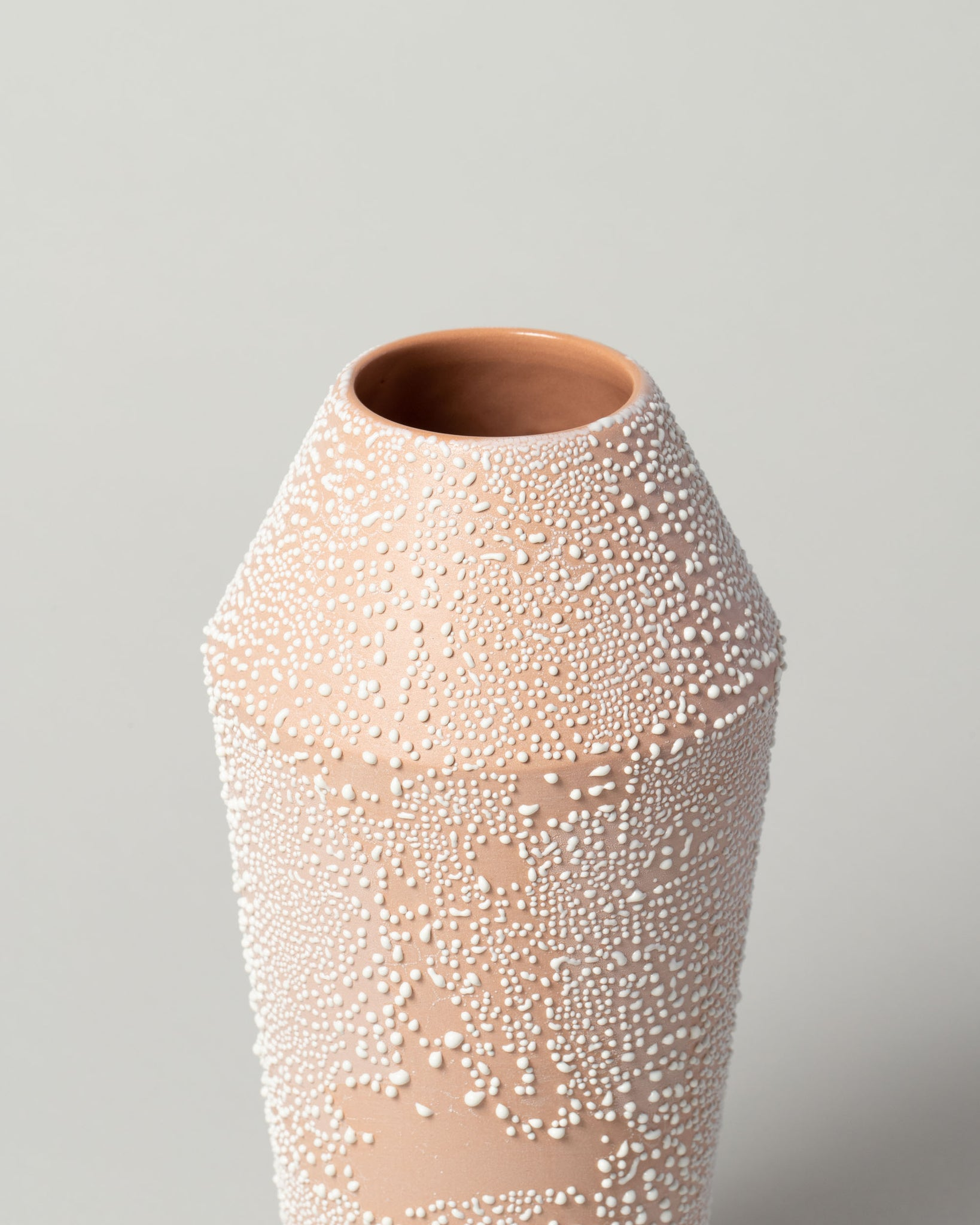 Small Dew Vessel in Terracotta Closeup