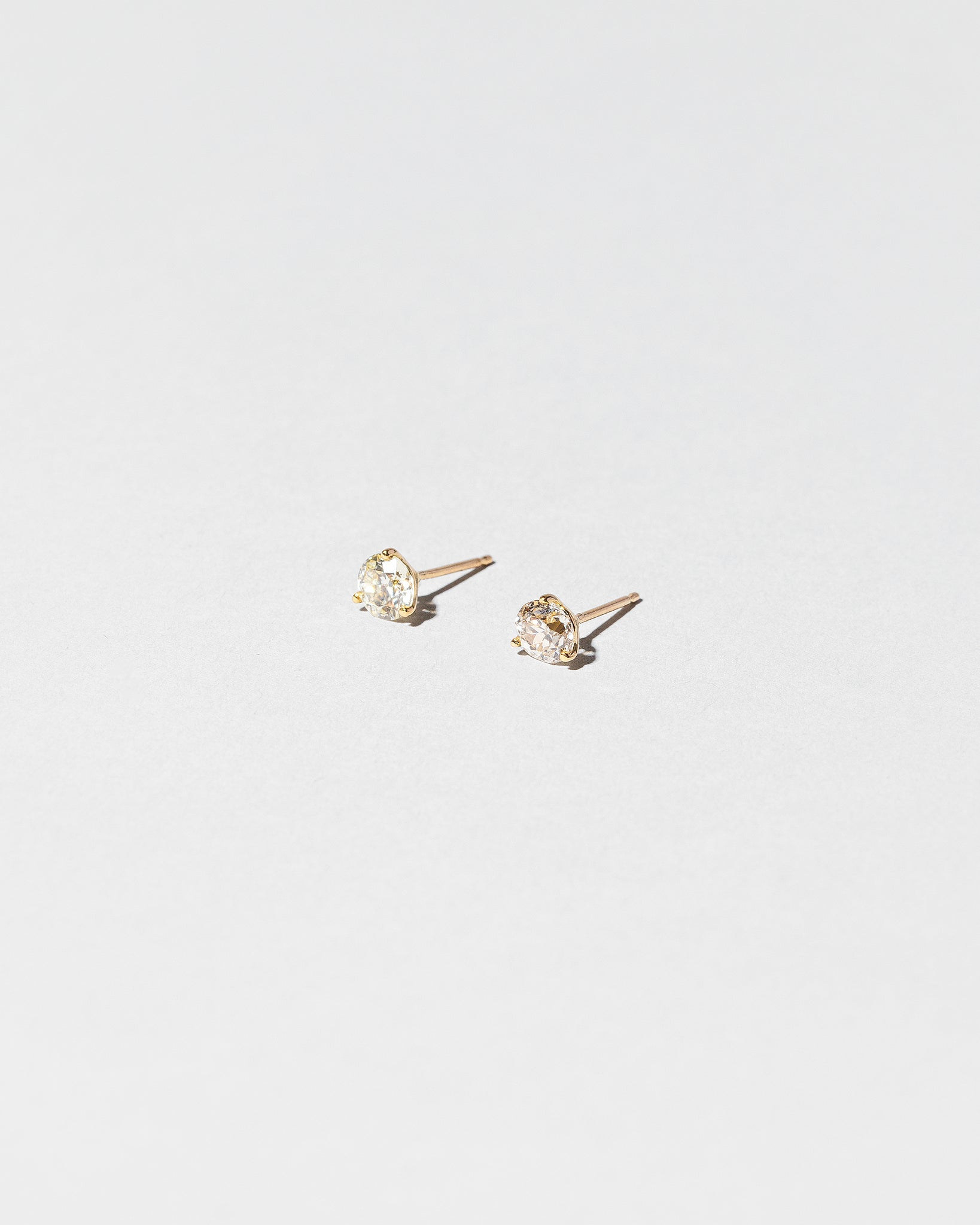 White Diamond Martini Studs