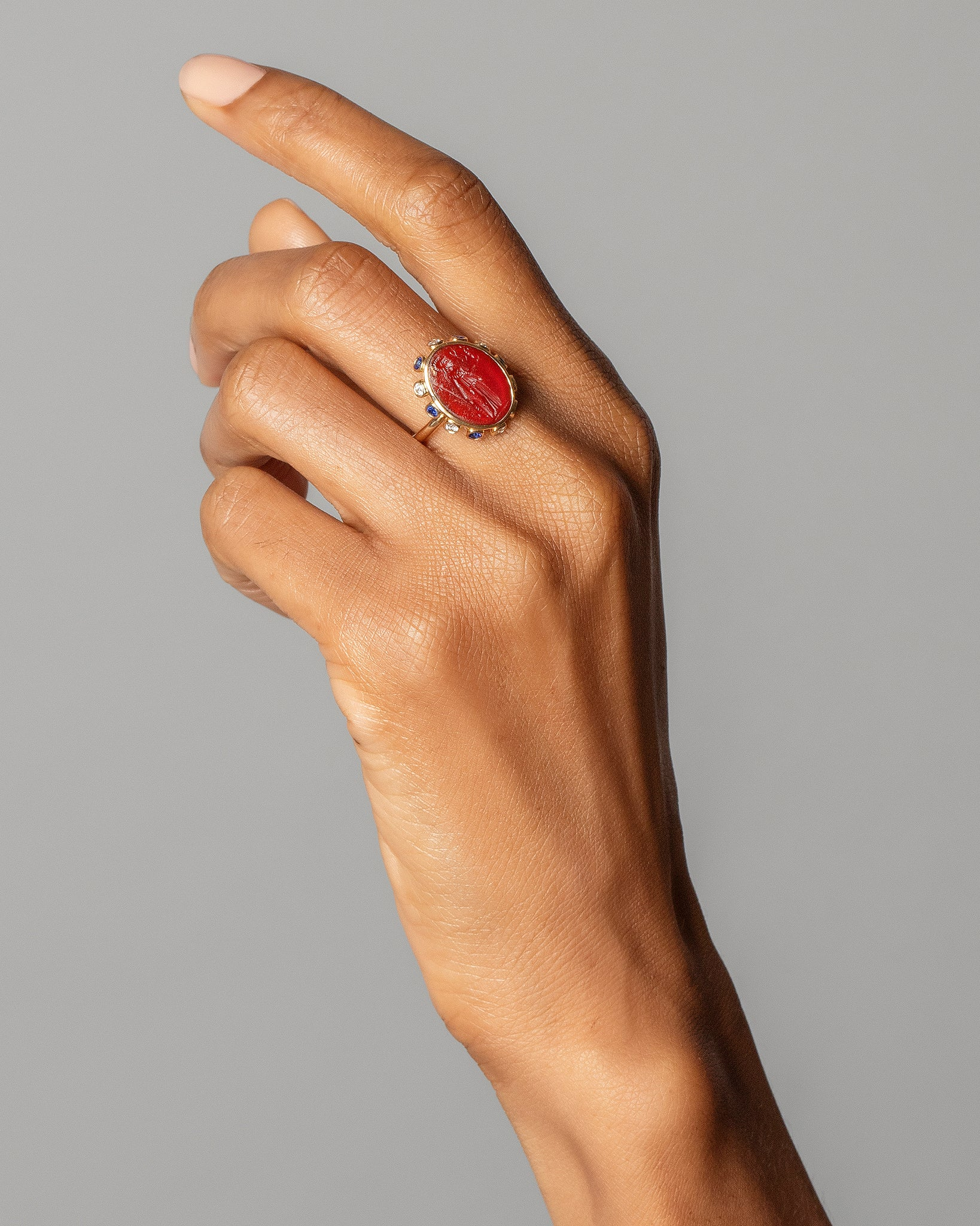 Minerva Ring on Model
