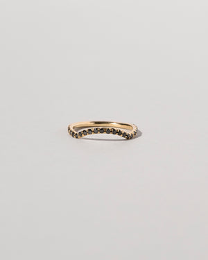 Mini Curve Band Pavé Black Diamond