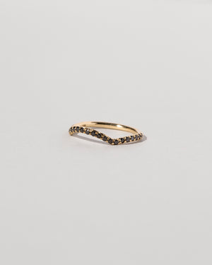 Mini Curve Band Pavé Black Diamond Side View