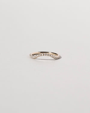 Mini Curve Band Pavé White Diamond