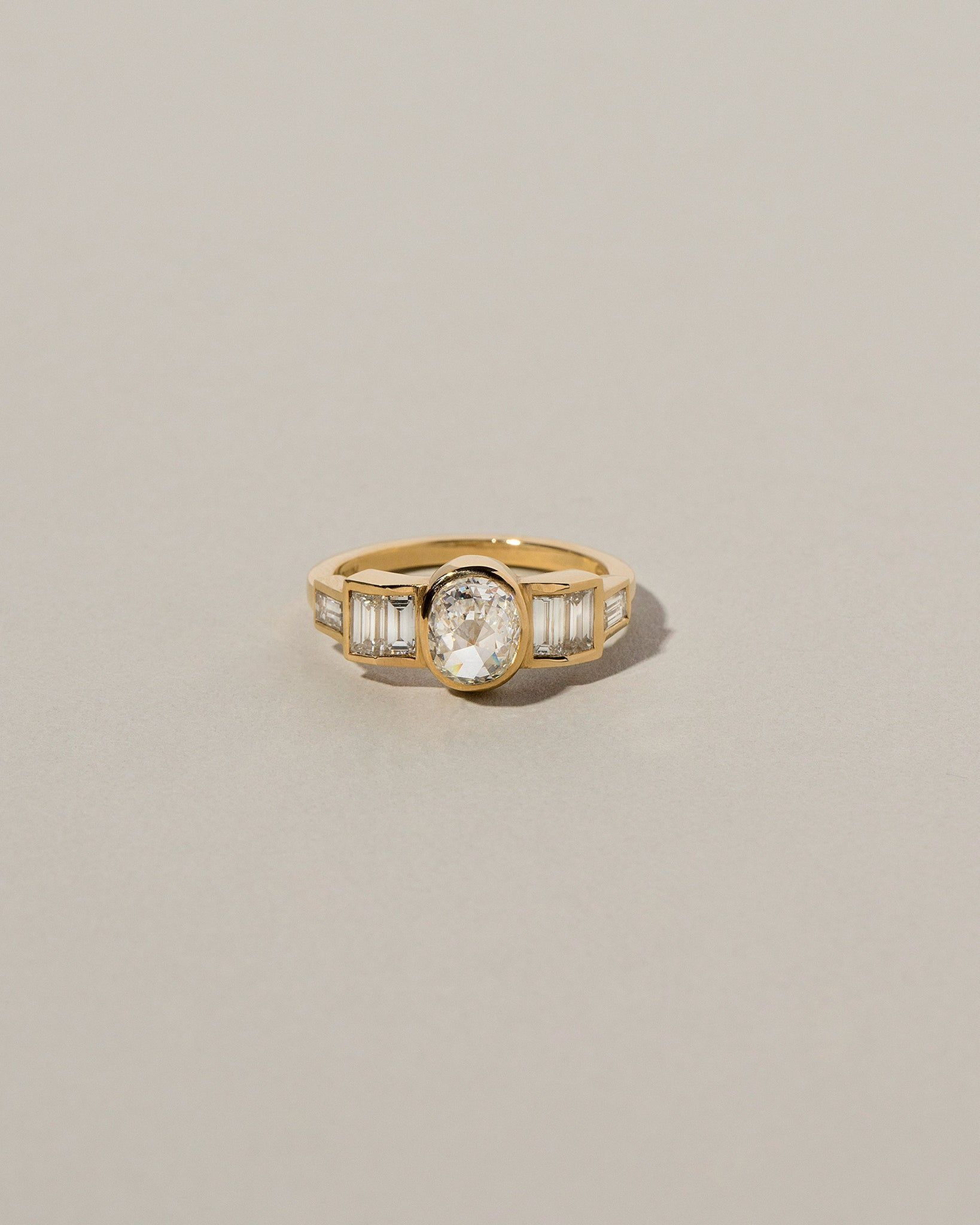 Front view of Modified Brilliant Diamond Ring