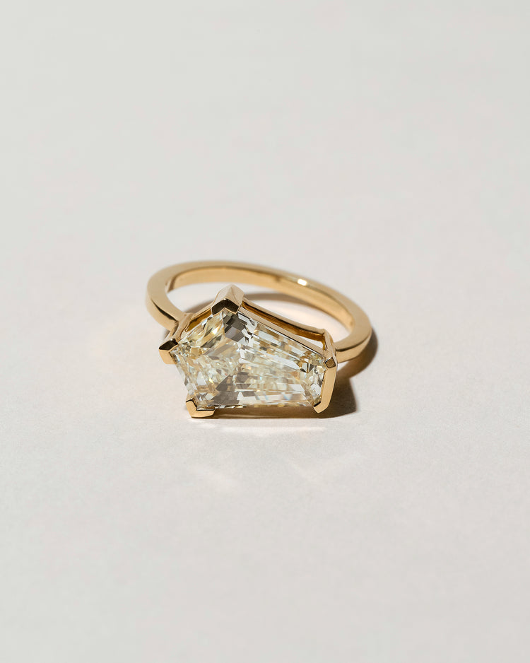 Modified Step Cut Diamond Ring Front View