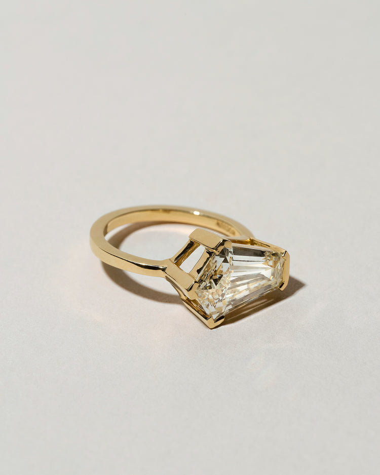 Modified Step Cut Diamond Ring Left Side