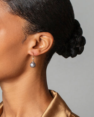 Moon Drop Earrings on Model