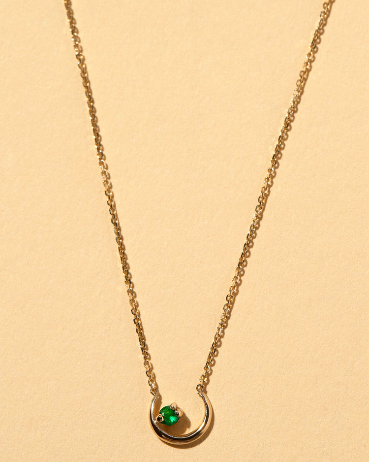 Moon Ray Necklace Emerald