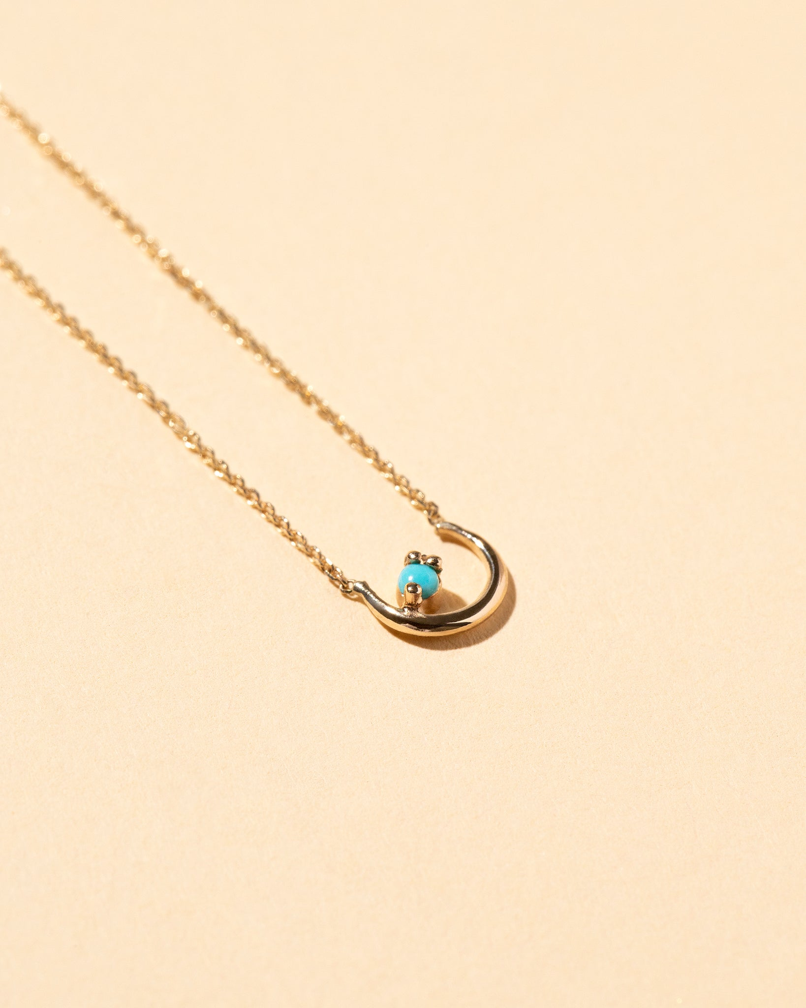 Moon Ray Necklace Turquoise  Closeup