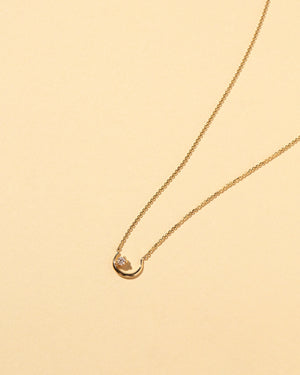 Moon Ray Necklace White Diamond